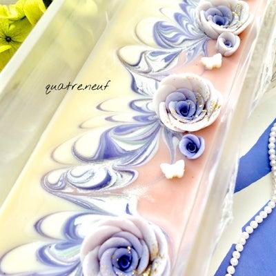 柔らかスワールの牡丹皮石鹸、angeさん納品です♪の記事に添付されている画像
