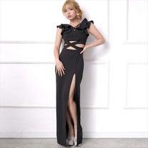 全3色 ウエスト見せスリットロングドレスの記事に添付されている画像