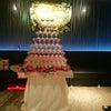 長方形シャンパンタワーの画像