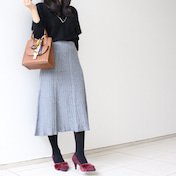 【トレンド感◎ニット素材スカート】冬の定番!通勤コーデ♪