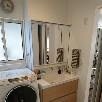 生活感あるweb内覧会:洗面所・お風呂の記事に添付されている画像