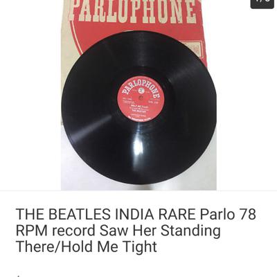 ビートルズの78回転 SPレコードの記事に添付されている画像