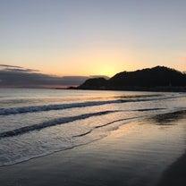由比ヶ浜の夕陽の記事に添付されている画像