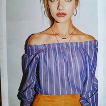 2019春LOUNIE ストライプの2WAYブラウス カタログ掲載商品の記事に添付されている画像