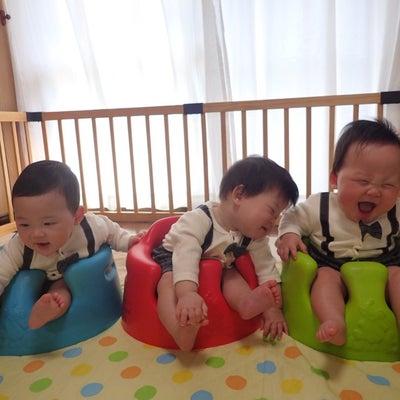 三つ子の保育参観の記事に添付されている画像
