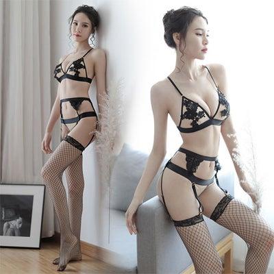 大人美人ブラックのガーターランジェリーの記事に添付されている画像