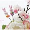 桜ぼんぼり付き♡桜とピオニーのアレンジ◆2月のマンスリーレッスンの画像