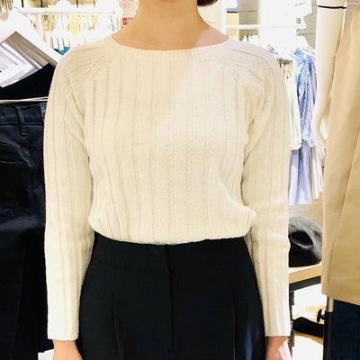 首が長くて、肩幅があり、腰が張ってる方の服選びの記事に添付されている画像