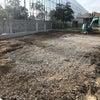 駐車場舗装、フェンス、ライン工事完成しましたの画像