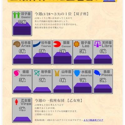 三波伸介の12正座占い(1/28~2/3)☆座布団枚数で今週の運勢をチェック!の記事に添付されている画像