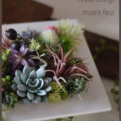 春かわいい 多肉アレンジメント/福岡フラワー教室 長崎フラワー教室の記事に添付されている画像