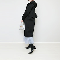 Myuバックフリルコート×しまむら袖パールトップスできれいめコーデ!の記事に添付されている画像