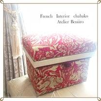 ブレアラビット生地で『フレンチインテリア茶箱』の記事に添付されている画像