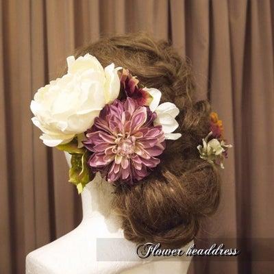 成人式前撮り用髪飾りオーダー✨の記事に添付されている画像