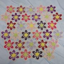 お花モチーフのブランケット、6段目まで終了&コストコ行ってきた!の記事に添付されている画像