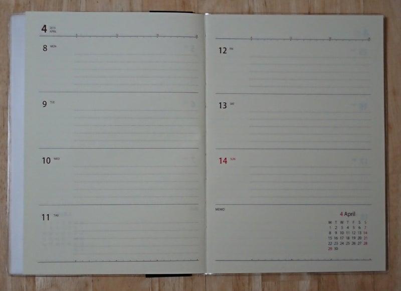4 月 始まり 手帳 無印