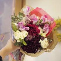 女性の方への花束の記事に添付されている画像