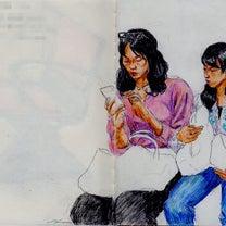 親子(上海の地下鉄でスケッチ)の記事に添付されている画像