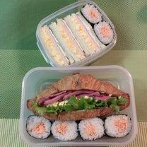 あきちゃんちのラララ♪お弁当♪補食弁当 サンドイッチ 塩鮭海苔巻きおにぎり編の記事に添付されている画像