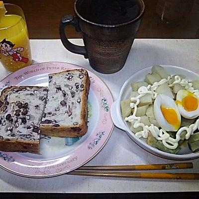 貴重な小豆ローフwith芋&半熟玉子と「まやかしオレンジジュース」(笑)の記事に添付されている画像