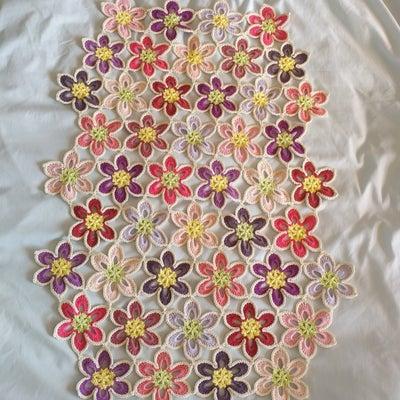 お花モチーフのブランケット、完成☆の記事に添付されている画像