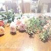 オールクレイで作った花たち、本部レッスンの準備の画像