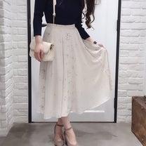 スプリングブーケ柄スカート着まわしの記事に添付されている画像