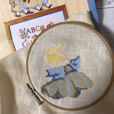 三つ子ちゃんの刺繍 輪郭が見えてきましたの記事に添付されている画像