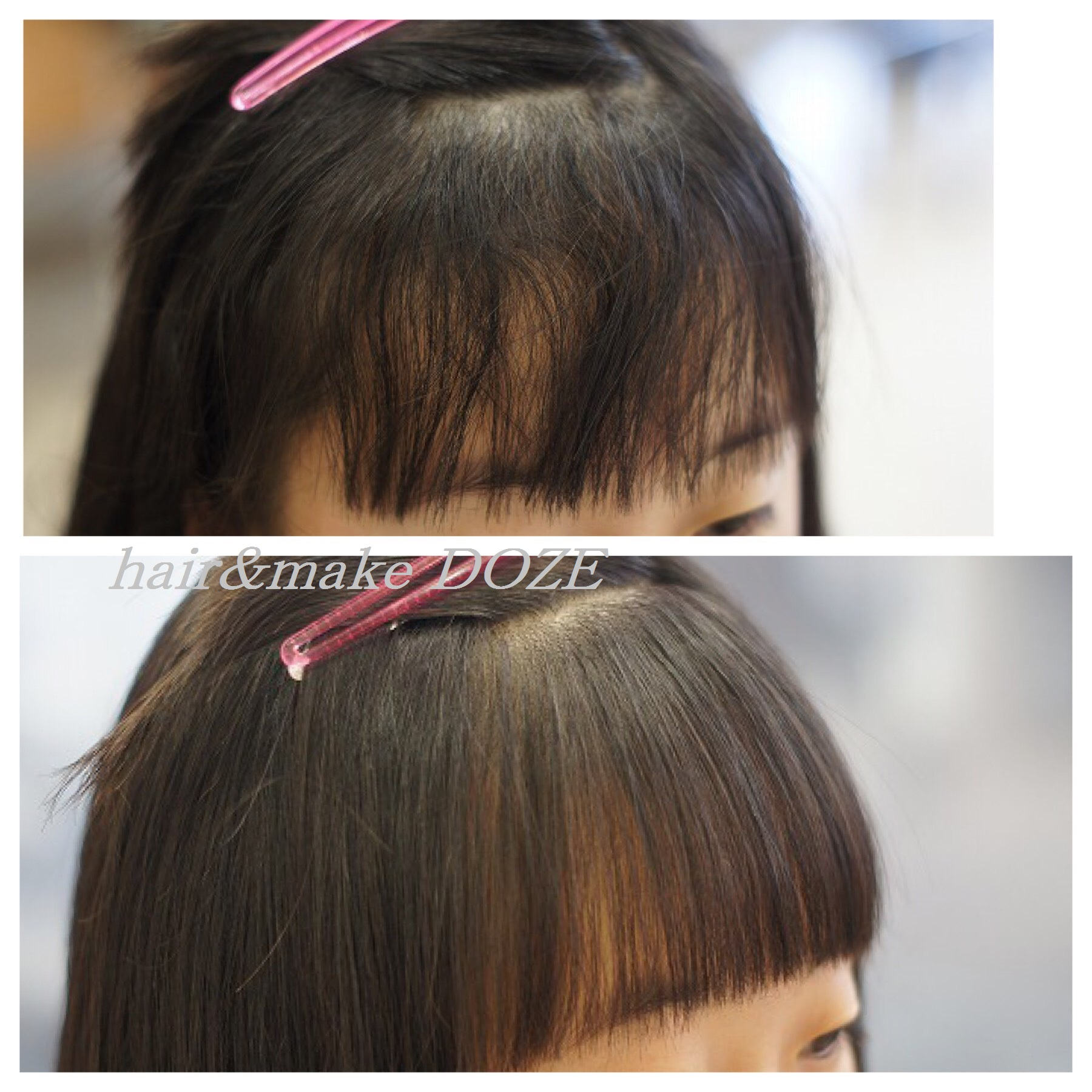 気になるその前髪も髪質改善なら自然になります!