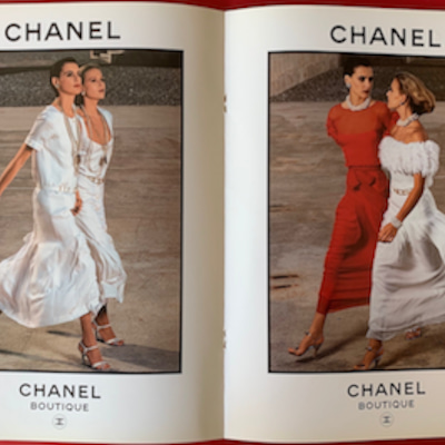 1983年、カール・ラガーフェルドがシャネルへの記事に添付されている画像