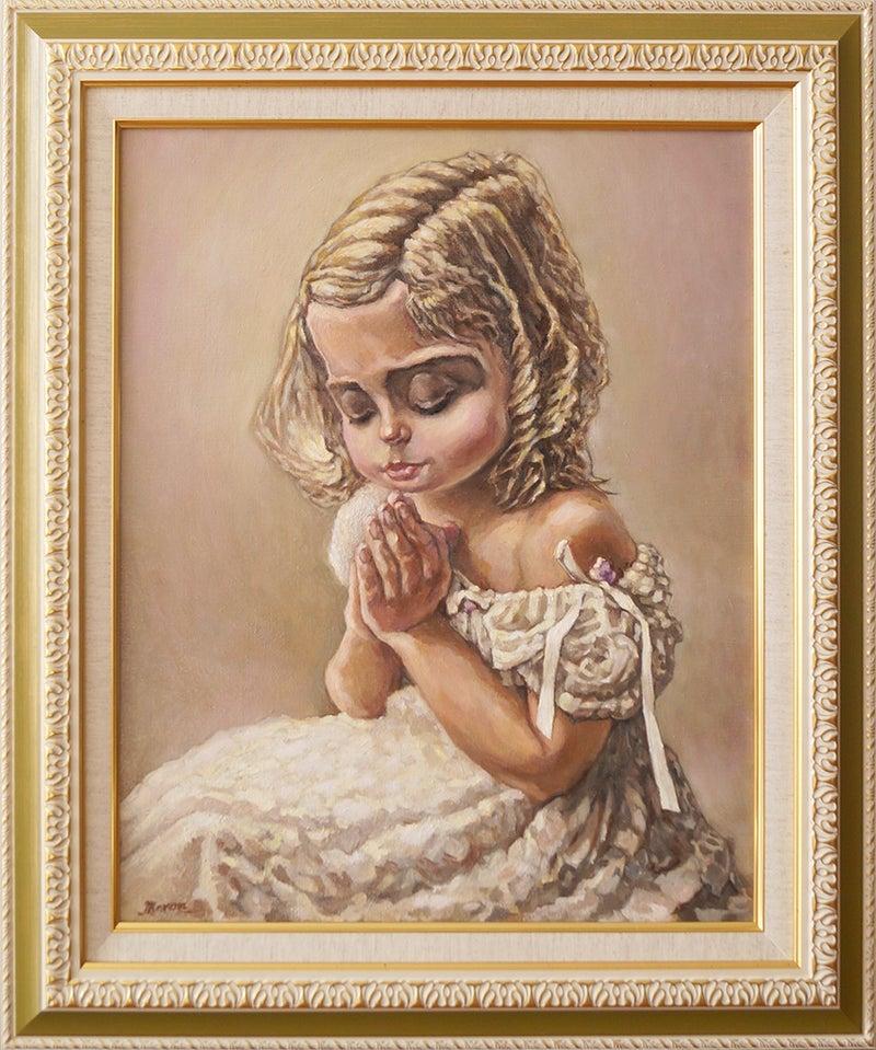 最高賞に輝いた少女の油絵肖像画作品です。