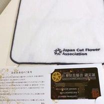 日本切花協会認定証の記事に添付されている画像