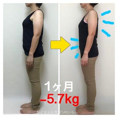 1ヶ月マイナス5.7kg!?衝撃のビフォーアフター♡の記事に添付されている画像