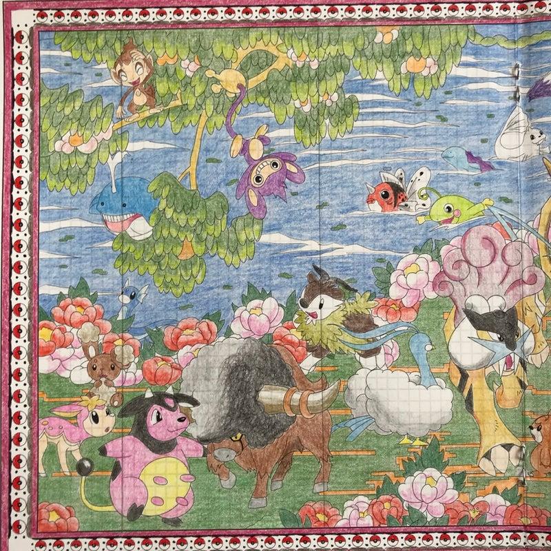 プレミアムキャラ塗り絵177 ポケモン名画 クーピーのブログ