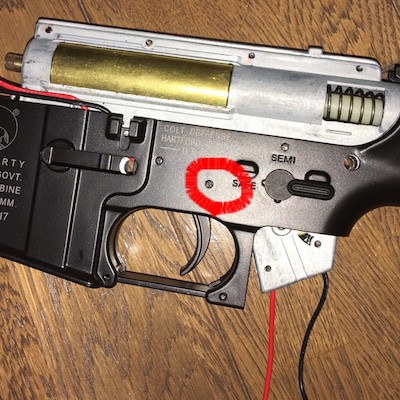CYMA M4A1 カービン メカボ分解、洗浄、調整の記事に添付されている画像