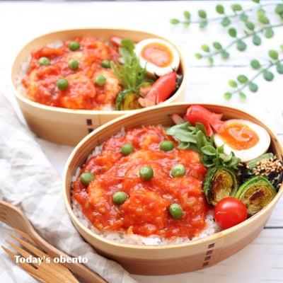 嬉しい金曜日♪エビチリ丼のお弁当♡の記事に添付されている画像