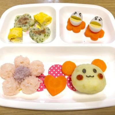 誕生日プレゼントと離乳食プレートの記事に添付されている画像