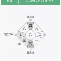 【九星気学】2019年2月16日の方位一覧の記事に添付されている画像