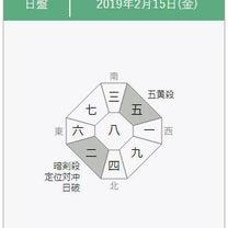 【九星気学】2019年2月15日の方位一覧の記事に添付されている画像