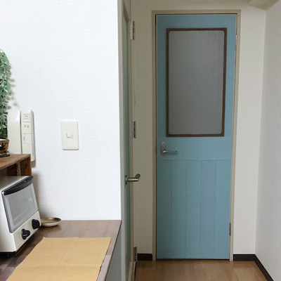 今日はお部屋のプチDIYの紹介!トイレ扉を可愛くリメイクしちゃいました♪の記事に添付されている画像