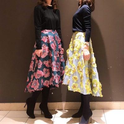 柄物スカートで双子コーデ/楽天マラソンの記事に添付されている画像