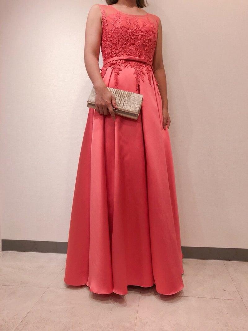 520ab13e64f56 Dresstique オレンジロングドレス