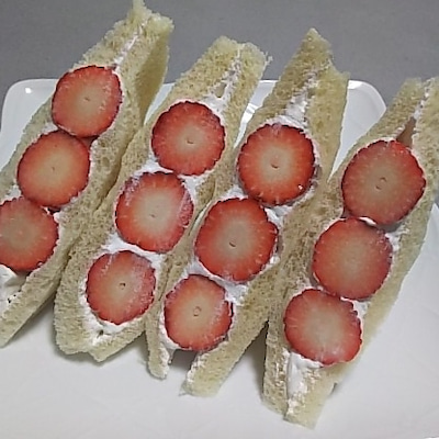 いちごサンド~~好きなサンドウィッチの具材 ♡♡の記事に添付されている画像