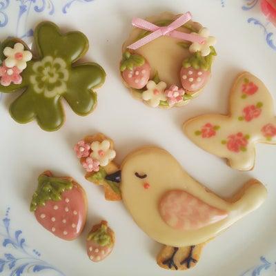 「春にぴったりな可愛い☆小鳥のデザインのアイシングクッキー♪」の記事に添付されている画像