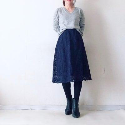 ユニクロ新作 レースギャザースカートの記事に添付されている画像