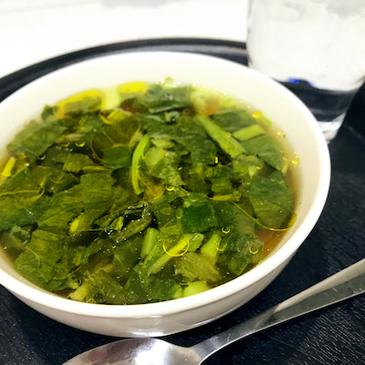 野沢菜漬けコンソメスープの記事に添付されている画像