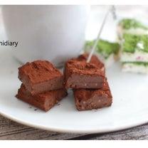 SNSで話題の豆腐で作るのに美味しい生チョコの記事に添付されている画像