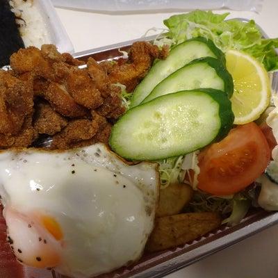 味のふるさと「デラックスからあげ弁当+のり昆布トッピング」←大崎八幡宮の記事に添付されている画像