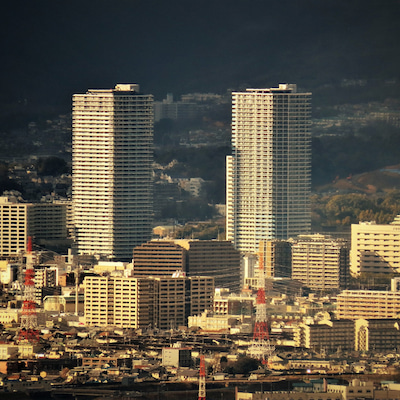 観音岩から望む7つのツインタワー!の記事に添付されている画像