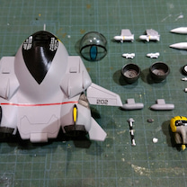 プラモ製作  ハセガワ たまごひこーき F14トムキャット その19の記事に添付されている画像